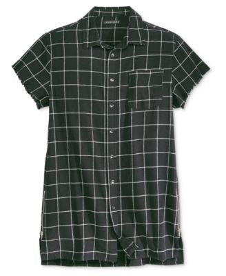 Jaywalker Men's Long Length Short-Sleeve Check Shirt