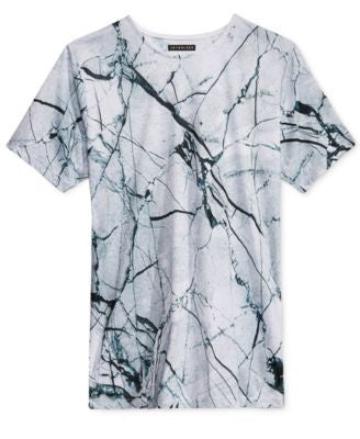 Jaywalker Men's Split-Hem Graphic-Print T-Shirt