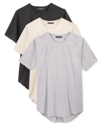 Jaywalker Men's 3-Pack Long Length Curved-Hem T-Shirt