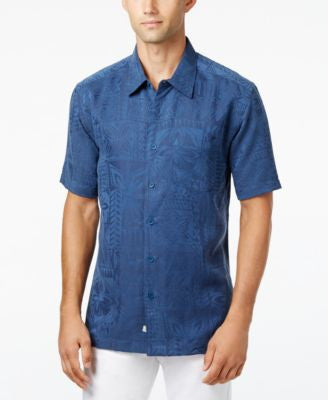Quiksilver Men's Aganoa Bay Tropical-Print Short-Sleeve Shirt