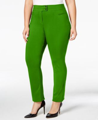 Style & Co. Plus Size Tummy-Control Straight-Leg Trousers