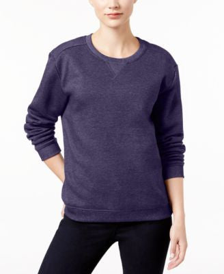 Karen Scott Petite Long-Sleeve Fleece Top, Only at Vogily