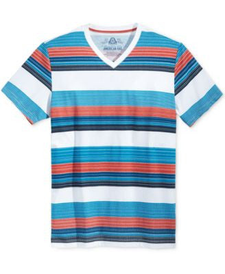 American Rag Striped V-Neck T-Shirt, Only at Vogily