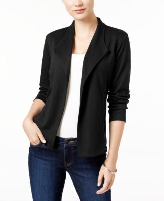 Style & Co. Petite Draped Blazer, Only at Vogily