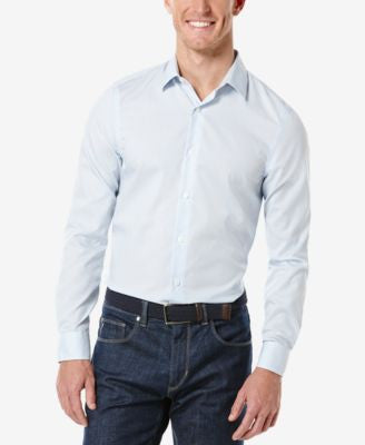 Perry Ellis Gingham Button-Front Shirt
