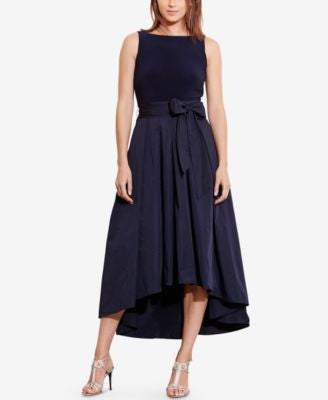 Lauren Ralph Lauren High-Low Fit & Flare Dress