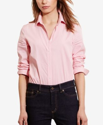 Lauren Ralph Lauren Petite Striped Long-Sleeve Shirt
