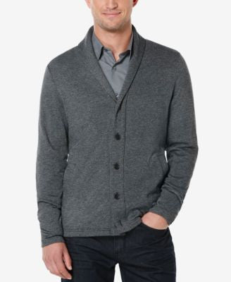 Perry Ellis Men's Big & Tall Shawl-Collar Marled Cardigan