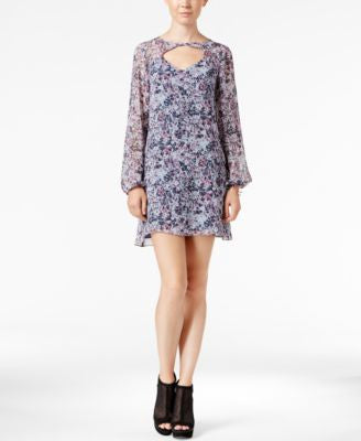 BCBGeneration Printed Chiffon Shift Dress