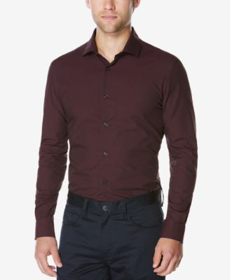 Perry Ellis Men's Big & Tall Long-Sleeve Dobby Shirt