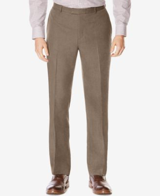 Perry Ellis Men's Big & Tall Subtle Plaid Twill Pants