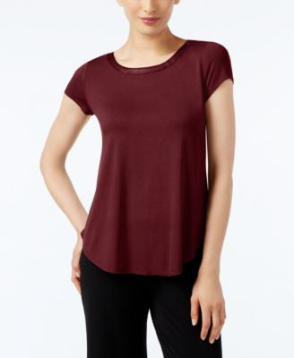 Alfani Petite Short-Sleeve High-Low Tee