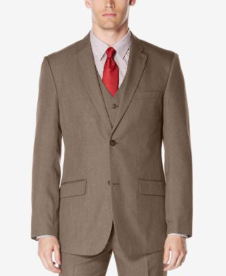 Perry Ellis Men's Classic-Fit Subtle Plaid Twill Jacket