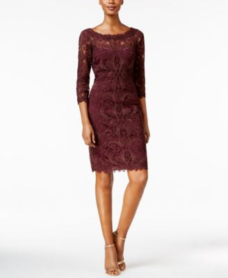 Tadashi Shoji Three-Quarter-Sleeve Lace Dress