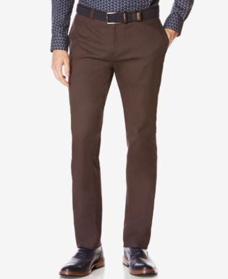 Perry Ellis Men's Bedford Slim-Fit Pants