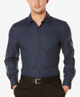 Perry Ellis Men's Long-Sleeve Dobby Shirt