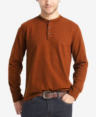 G.H. Bass & Co. Men's Long-Sleeve Henley