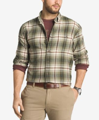G.H. Bass & Co. Men's Plaid Flannel Long-Sleeve Shirt