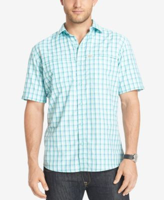 G.H. Bass & Co. Men's Performance Plaid Short-Sleeve Shirt