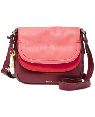 Fossil Peyton Colorblocked Double Flap Bag