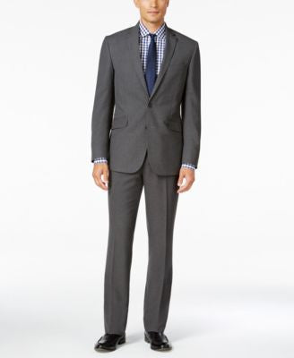 Kenneth Cole Reaction Men's Slim-Fit Grey Stripe Suit