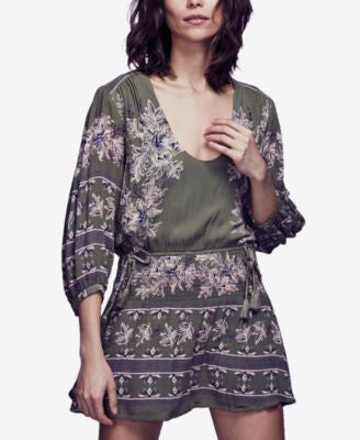 Free People Moonlight Printed Peasant Dress