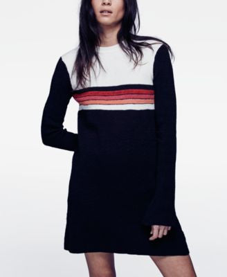 Free People Colorblocked Sweater Dress