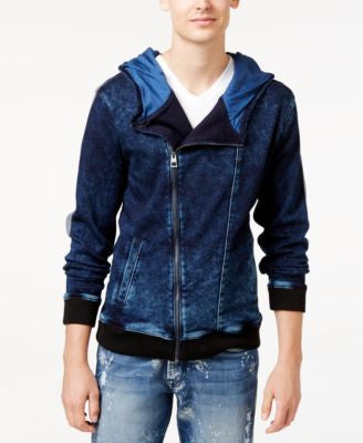GUESS Men's Moto Zip-Up Hoodie