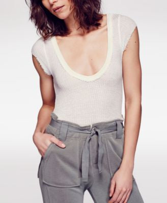 Free People Waffle Arthur Short-Sleeve Top