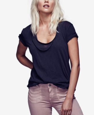 Free People Phoebe Drapey Layered T-Shirt