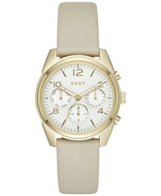 DKNY Unisex Crosby Gray Leather Strap Watch 36mm NY2532