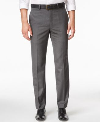 Lauren Ralph Lauren Men's Microfiber Classic-Fit Gray Herringbone Dress Pants