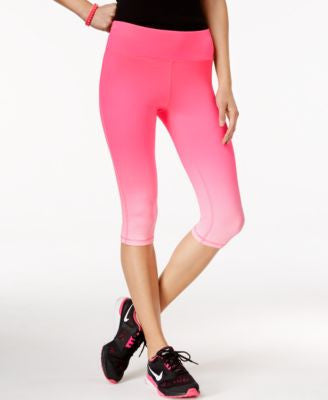 Material Girl Active Pink Ribbon Ombre Cropped Leggings, Only at Vogily