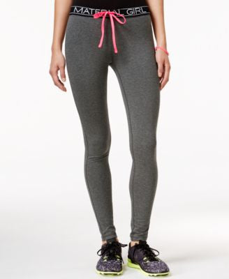Material Girl Active Logo Drawstring Leggings, Only at Vogily
