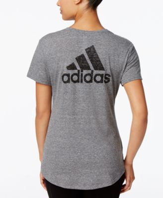 adidas Logo Heathered V-Neck T-Shirt