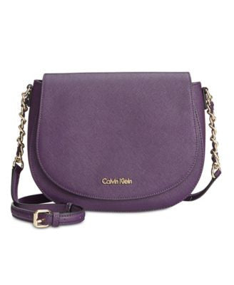 Calvin Klein Saffiano Saddle Crossbody Bag