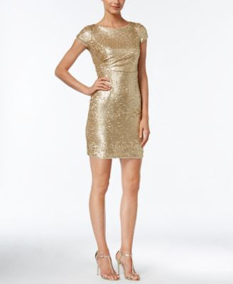 Adrianna Papell Sequined Bodycon Dress