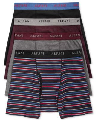 Alfani Men's 4 Pack. Cotton Boxer Briefs, Only at Vogily