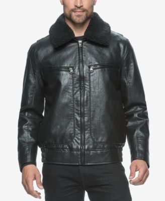 Marc New York Men's Amherst Faux-Leather Aviator Jacket