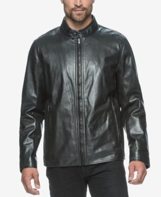 Marc New York Men's Rhinecliff Leather Racer Coat