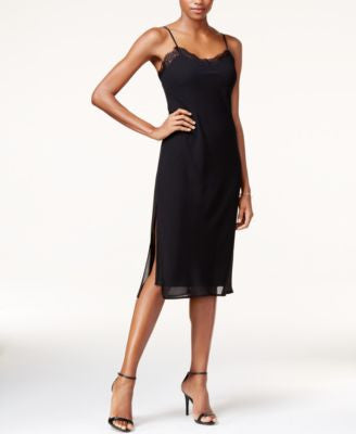 Bar III Lace-Trim Slip Dress, Only at Vogily