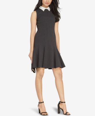 Lauren Ralph Lauren Petite Jacquard Collar Dress
