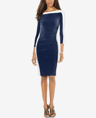 Lauren Ralph Lauren Petite Colorblocked Dress