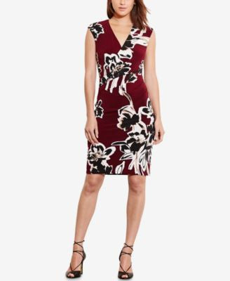 Lauren Ralph Lauren Petite Floral-Print Sheath Dress
