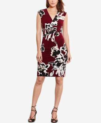 Lauren Ralph Lauren Floral-Print Jersey Sheath Dress