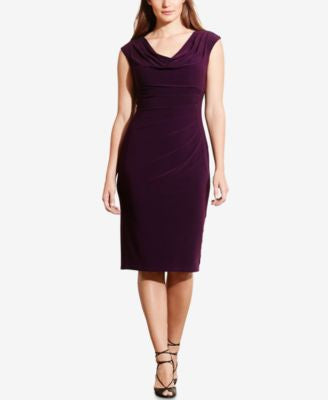 Lauren Ralph Lauren Plus Size Cowl-Neck Jersey Dress