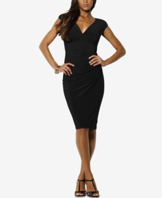 Lauren Ralph Lauren Petite Surplice Jersey Dress