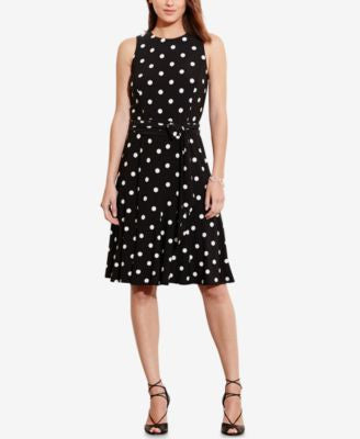 Lauren Ralph Lauren Polka-Dot-Print Jersey Dress