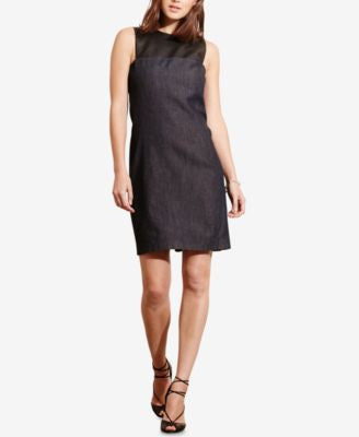 Lauren Ralph Lauren Denim Colorblock Shift Dress