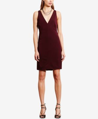 Lauren Ralph Lauren Lace-Up-Back Jersey Dress